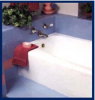blasts away stubborn stains and build-up, restoring bathrooms to a sparkling new
